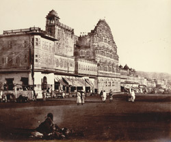 The Hawa Mahal, or Palace of the Winds, Jeypoor.